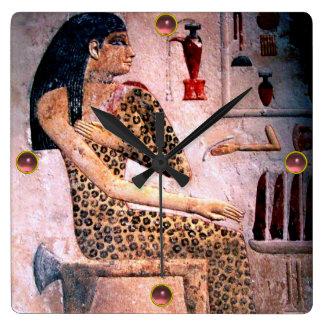 ELEGANT WOMAN ,FASHION AND BEAUTY OF ANTIQUE EGYPT WALL CLOCKS