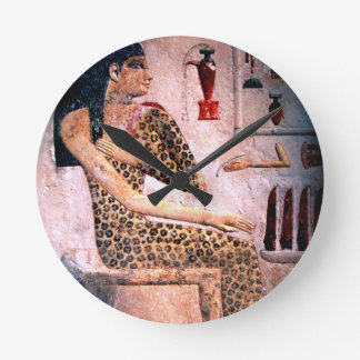 ELEGANT WOMAN ,FASHION AND BEAUTY OF ANTIQUE EGYPT WALLCLOCKS