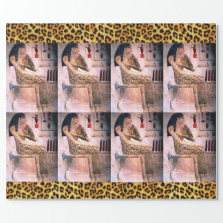 ELEGANT WOMAN /FASHION & BEAUTY OF ANTIQUE EGYPT WRAPPING PAPER