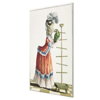 Elegant Woman in a Caraco 'a la Polonaise' and a h Canvas Print
