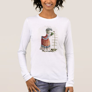 Elegant Woman in a Caraco 'a la Polonaise' and a h Long Sleeve T-Shirt