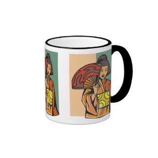 Elegant Woman With Fan Mug