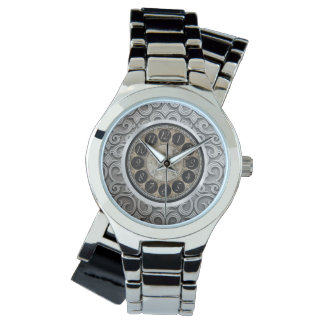 elegant women's silver wraparound watch