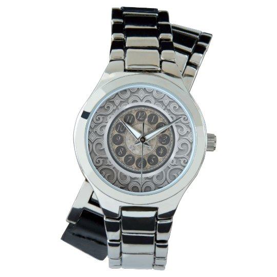 elegant women's silver wraparound watch