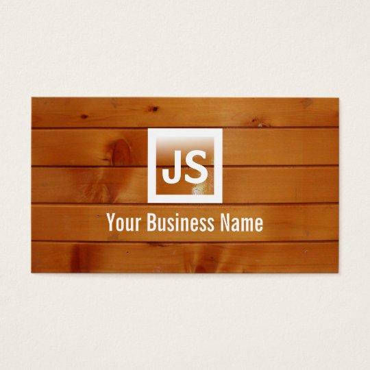 Elegant Wood Stripes Texture Business Card