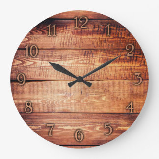 Elegant wood texture wall clock