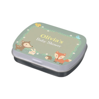 Elegant Woodland Animal Baby Shower Party Treats Jelly Belly Tins