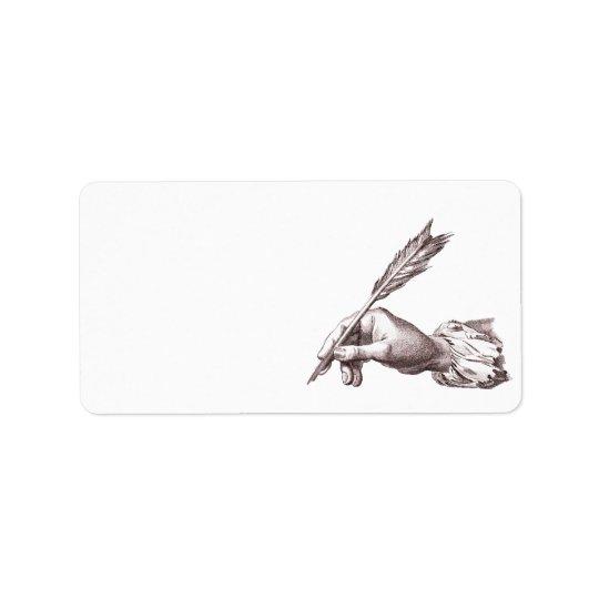 Elegant Writer's Hand for Calligrapher, Author etc Address Label