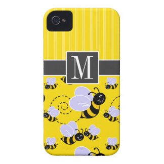 Elegant Yellow & Black Bee iPhone 4 Covers