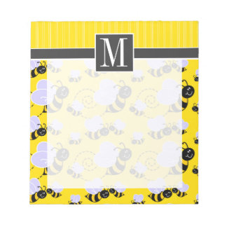 Elegant Yellow & Black Bee Notepad