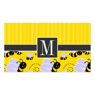 Elegant Yellow & Black Bee Pack Of Standard Business Cards