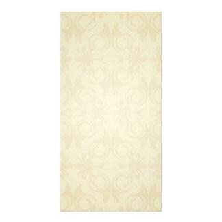 Elegant yellow damask wedding gift picture card