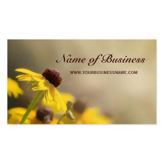 Elegant Yellow Floral Black-Eyed Susan Business Card Templates