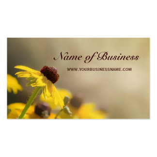 Elegant Yellow Floral Black-Eyed Susan Pack Of Standard Business Cards
