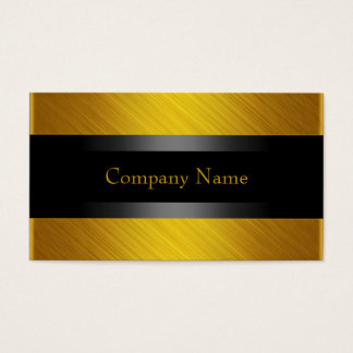 Elegant Yellow Gold with Black Business Card