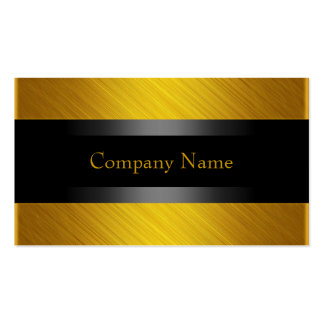 Elegant Yellow Gold with Black Pack Of Standard Business Cards