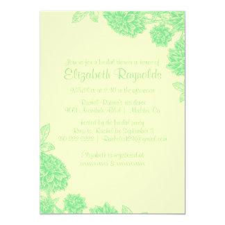 Elegant Yellow & Green Bridal Shower Invitations