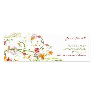 Elegant Yellow Hibiscus Nature Floral Swirls Birds Business Cards
