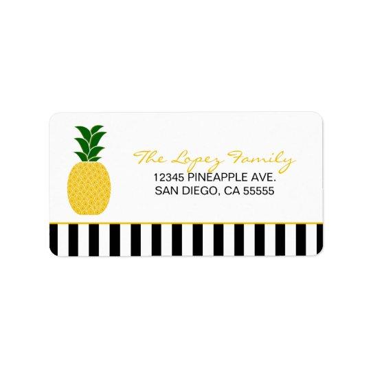 Elegant Yellow Pineapple Label