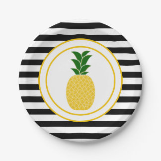 Elegant Yellow Pineapple Paper Plate