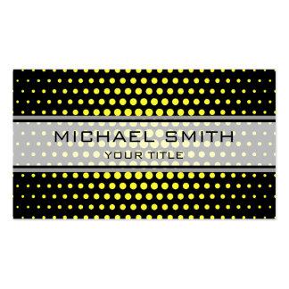 Elegant Yellow Polka Dot Pattern Pack Of Standard Business Cards
