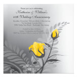 Elegant Yellow Rose Anniversary Invitation