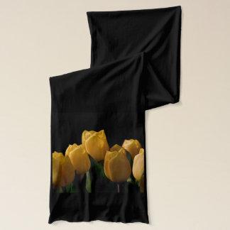 Elegant yellow tulips scarf