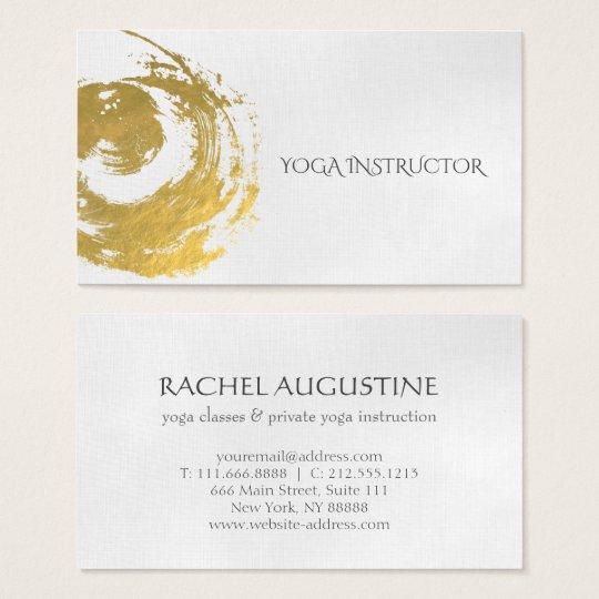 Elegant YOGA Gold Foil Brushstrokes ZEN Symbol Business