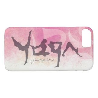 Elegant YOGA Human Alphabet Letters Om Symbol iPhone 7 Case