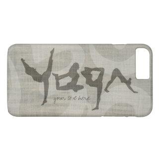 Elegant YOGA Human Alphabet Letters Om Symbol iPhone 7 Plus Case