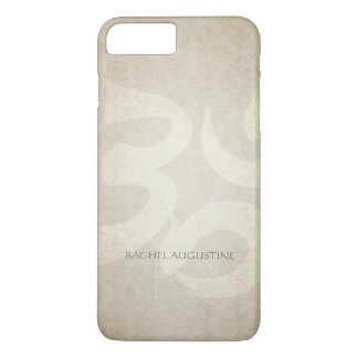 Elegant Yoga Instructor Om Symbol Grunge Floral iPhone 7 Plus Case