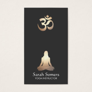 Elegant Yoga Meditation Pose Om Symbol