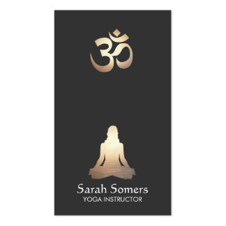 Elegant Yoga Meditation Pose Om Symbol Pack Of Standard Business Cards