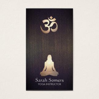 Elegant Yoga Meditation Pose Om Symbol Wood Look