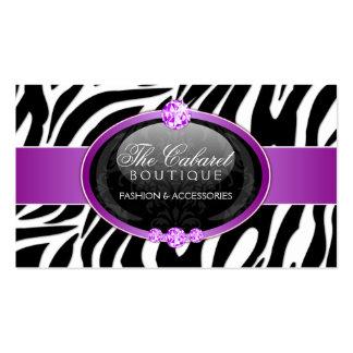 Elegant Zebra Fashion Jewelry Business Cards