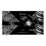 Elegant Zebra Leopard Black Diamond look