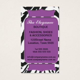 Elegant Zebra Pattern Business Card
