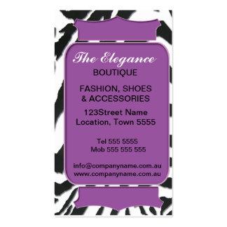 Elegant Zebra Pattern Business Card