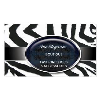 Elegant Zebra Pattern Business Card Template