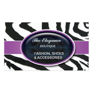 Elegant Zebra Pattern Business Cards