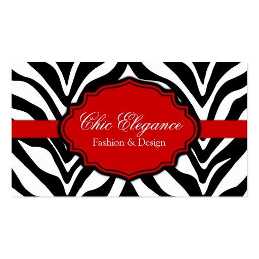 Create your own fashion designer business cards page9 elegant zebra print business cards colourmoves