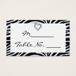 Elegant Zebra Stripe Wedding Place Card