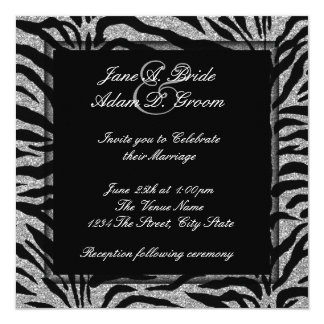 Elegant Zebra Wedding Card