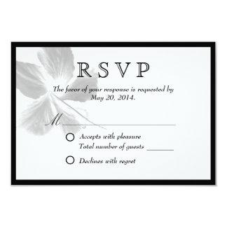 Elegant Zen Flower Wedding RSVP Card 9 Cm X 13 Cm Invitation Card