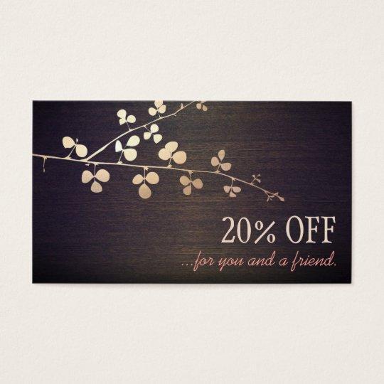 Elegant Zen Gold Branch Salon Customer Referral Business