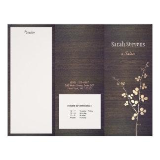 Elegant Zen Gold Branch Wood Nature Spa Brochure 21.5 Cm X 28 Cm Flyer
