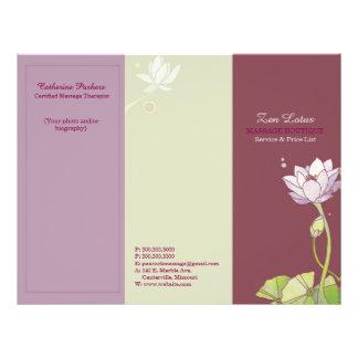 Elegant Zen Lotus Tri Fold Business Brochures