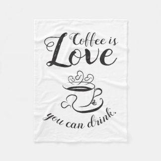 Elegante Coffee Fleece Blanket