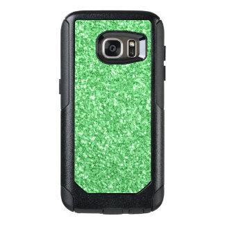Elegante Green Glitter Print OtterBox Samsung Galaxy S7 Case