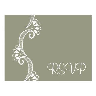 Elegantly Asian Wedding RSVP Post Card